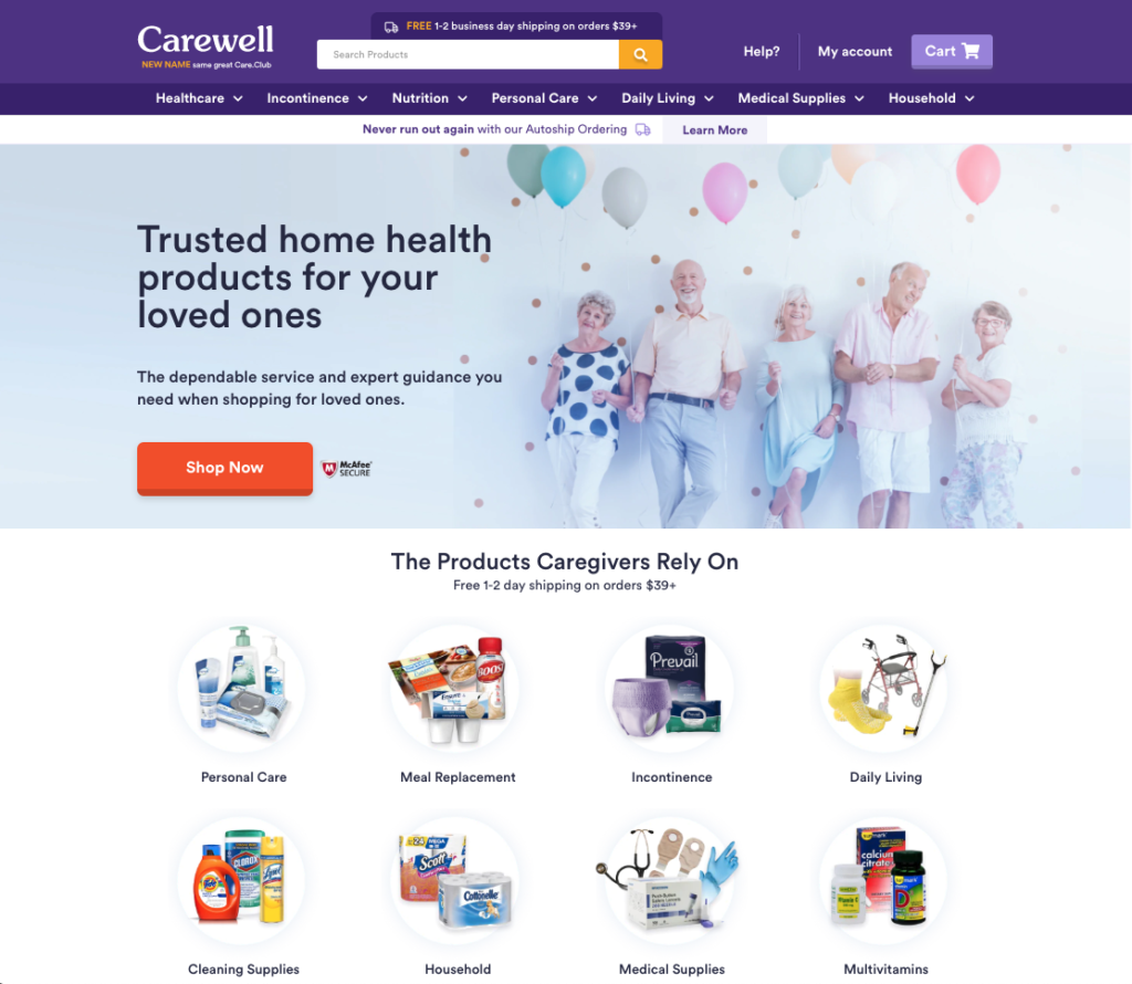 carewell website