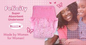 felicity absorbent underwear for women